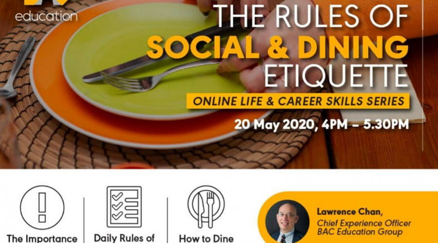 Online Life & Career Skills Series 3: The Rules of Social & Dining Etiquette