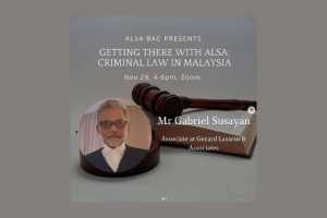 Getting There With ALSA: Criminal Law in Malaysia