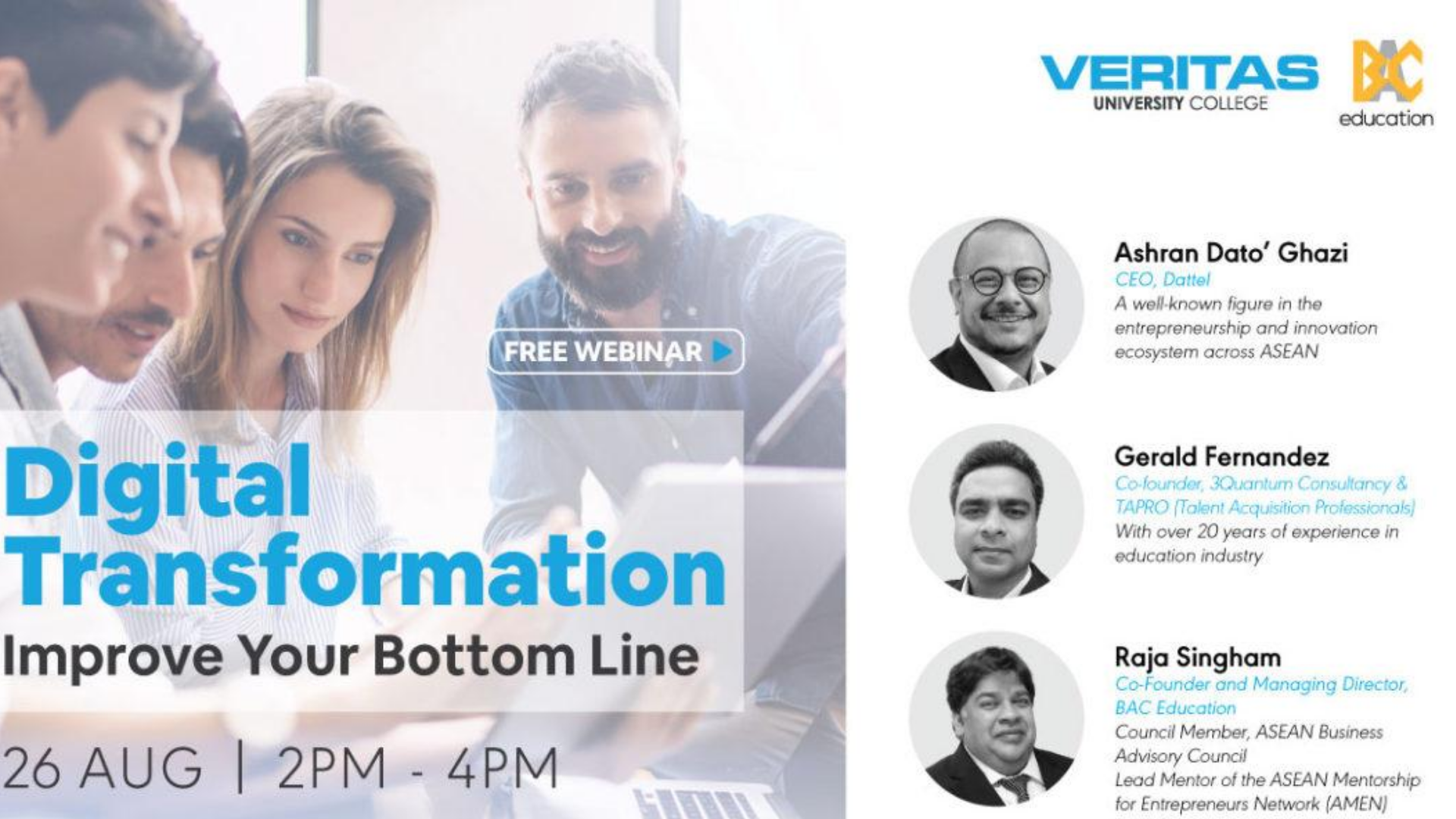 Digital Transformation Webinar by Veritas University College